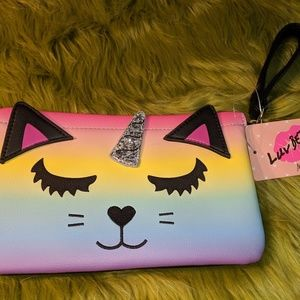 Rainbow kitty unicorn handbag pouch by Luv Betsey